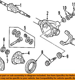 details about ford oem 99 13 f 350 super duty front differential pinion seal 8c3z4l616b [ 1000 x 868 Pixel ]