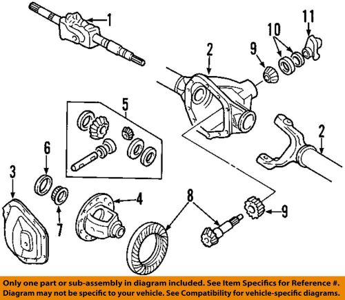 small resolution of details about ford oem 99 13 f 350 super duty front differential pinion seal 8c3z4l616b