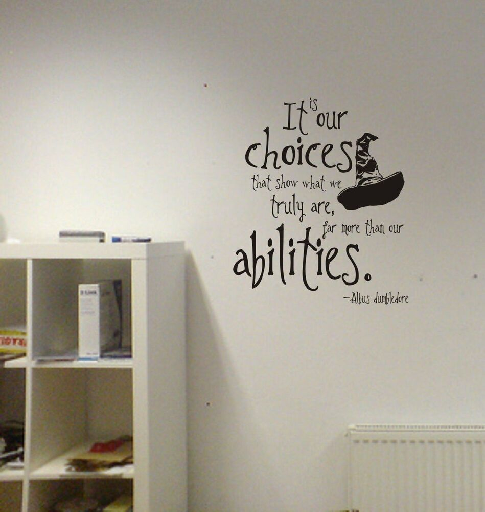 D Desktop Wallpapers Harry Potter Our Choices Quote Vinyl Wall Decal Lettering