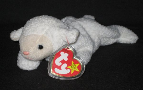 Ty Fleece Lamb Beanie Baby - Mint With Tags