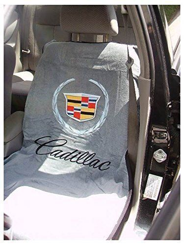 20102017 Cadillac Logo Gray Seat Cover Seat Armour Towel New ATS CTS Escalade  eBay