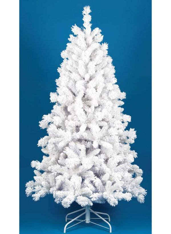 Closeout 8 Foot White Flocked Artificial Christmas Tree