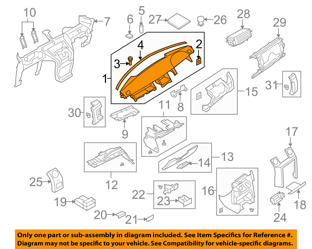 hight resolution of land rover oem 05 09 lr3 instrument panel dash lr016801 ebay diagram in addition land rover lr2 check engine light on 2008 land