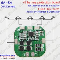 4s Bms Wiring Diagram 2006 Holiday Rambler 8a 14 8v Lithium Li Ion 18650 Battery Packs Protection Pcb Details About Board Circuit