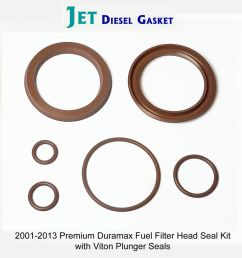 premium duramax fuel filter head rebuild seal kit viton plunger seals orings 708325509788 ebay [ 1000 x 917 Pixel ]