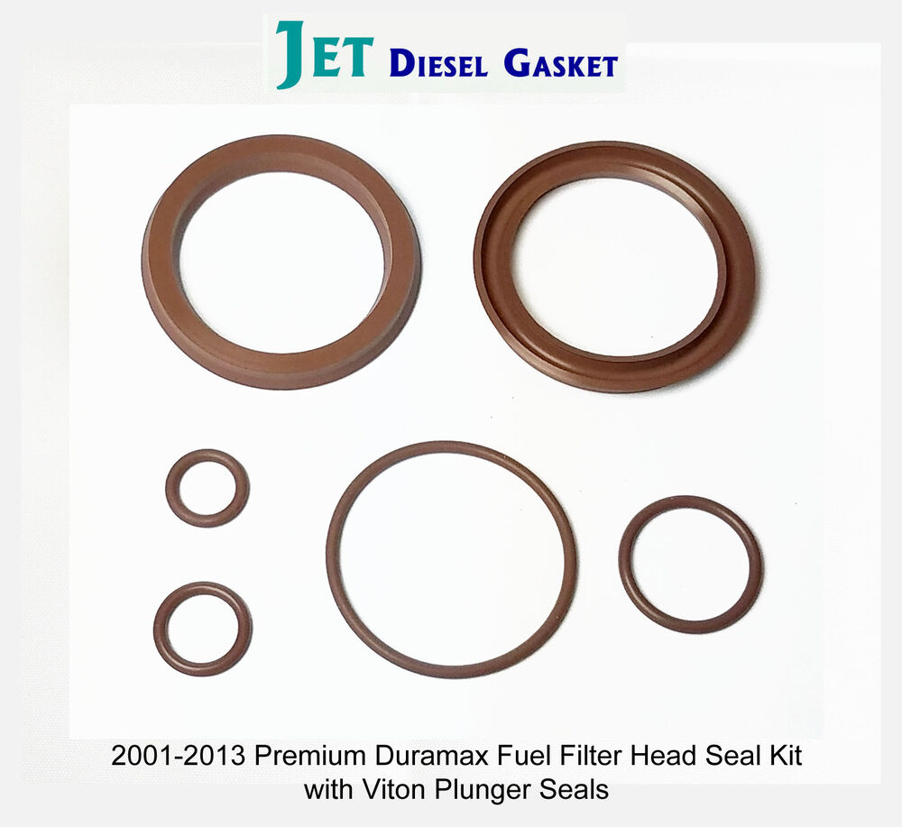 hight resolution of premium duramax fuel filter head rebuild seal kit viton plunger seals orings 708325509788 ebay