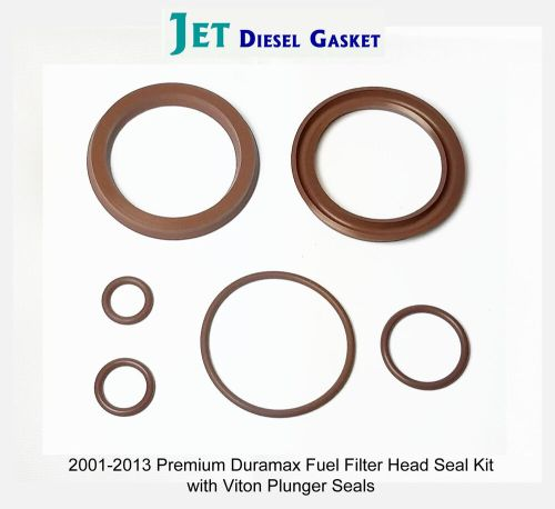 small resolution of premium duramax fuel filter head rebuild seal kit viton plunger seals orings 708325509788 ebay