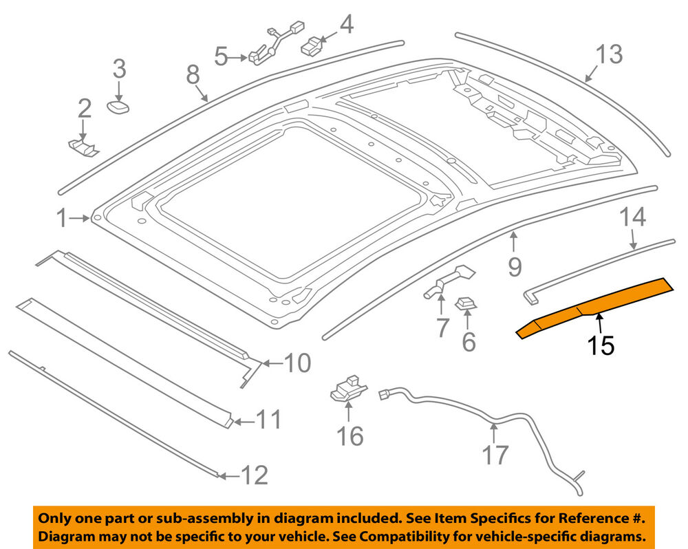 hight resolution of details about lincoln ford oem 13 18 mkz sunroof side cover right dp5z5451968a