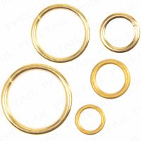 SMALL - LARGE BRASS CURTAIN RINGS Hollow Solid Plastic ...