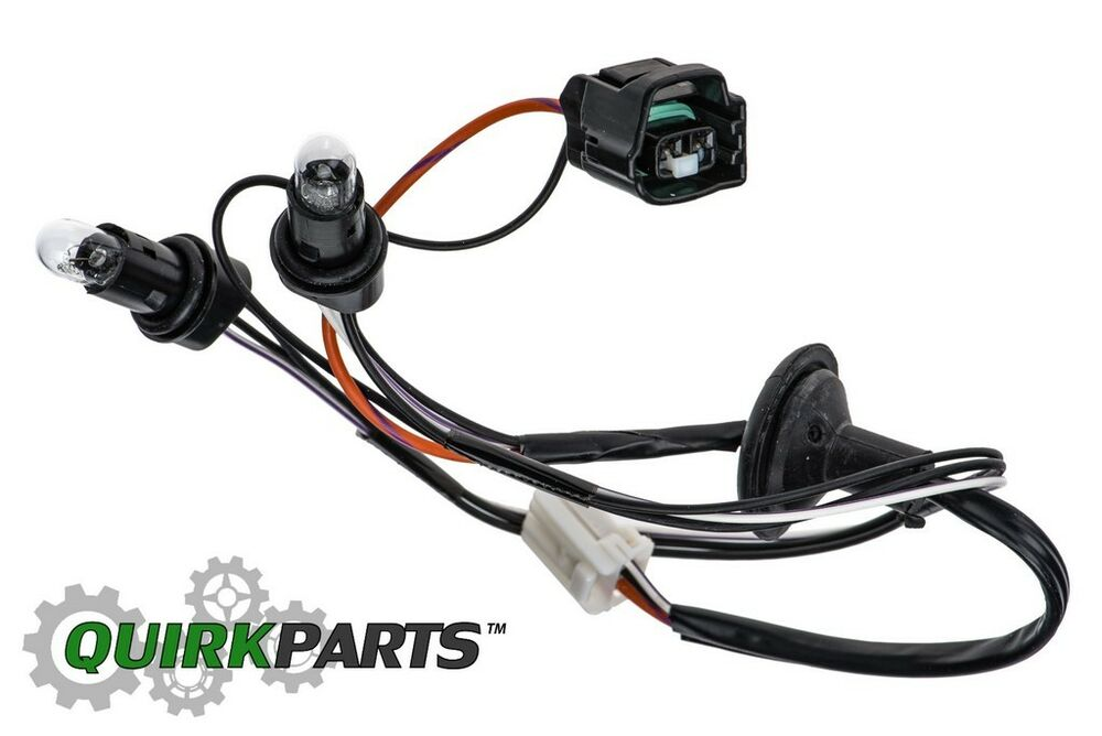 08-12 JEEP LIBERTY LICENSE PLATE LIGHT LAMP WIRING HARNESS