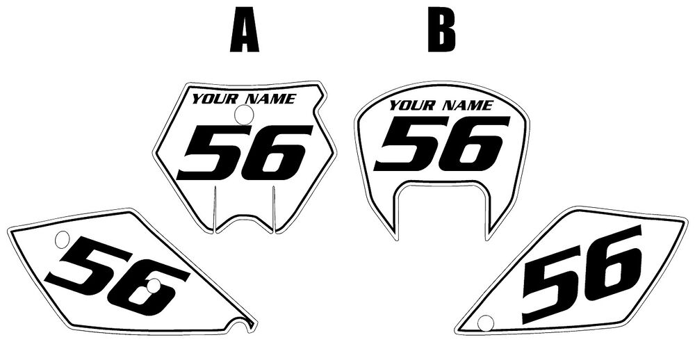 Fits KTM 525 SX 2005-2006 Pre-Printed White Backgrounds