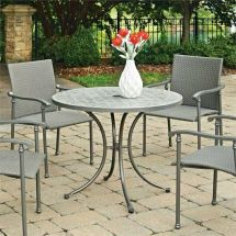 "Home Styles Umbria 39"" Concrete Tile Patio Dining"