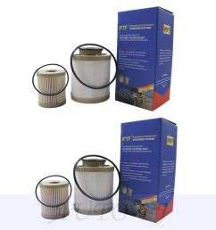 details about 2pcs for 03 07 ford f series 6 0l powerstroke turbo diesel fuel filter fd4616 [ 1000 x 1000 Pixel ]