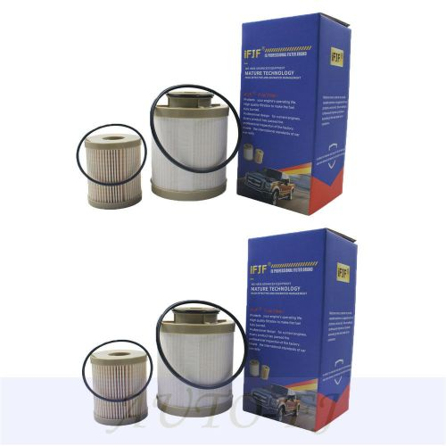 small resolution of details about 2pcs for 03 07 ford f series 6 0l powerstroke turbo diesel fuel filter fd4616