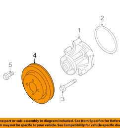 details about ford oem water pump pulley 9w7z8509a [ 1000 x 798 Pixel ]
