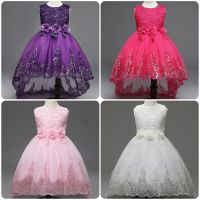 Flower Girl Bow Princess Dress Baby Kids Party Wedding ...