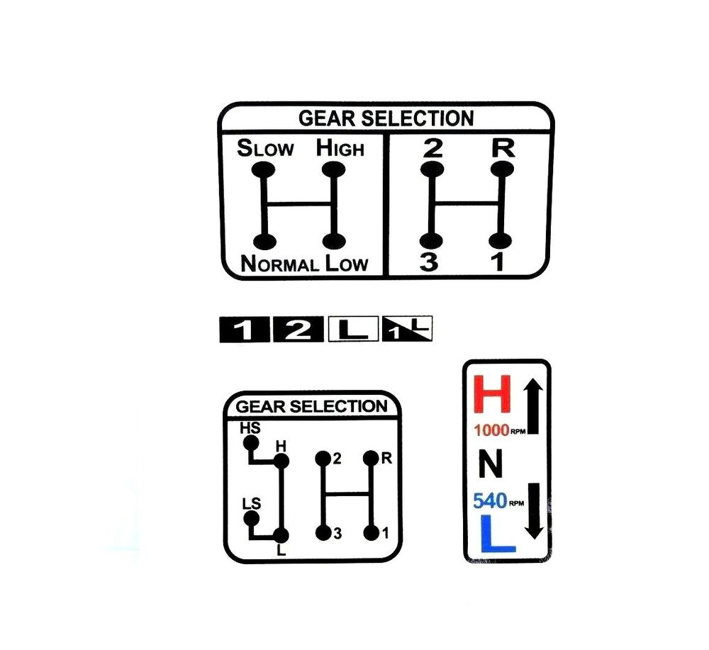 GEAR & PTO SELECTION DECAL FITS DAVID BROWN 770 780 880