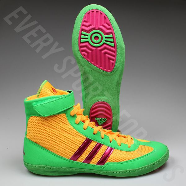 Adidas Combat Speed 4 Wrestling Shoes Aq3059 - Gold Pink