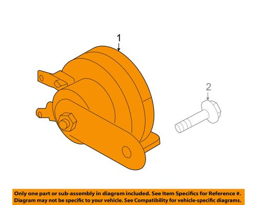 small resolution of details about nissan oem 06 18 frontier horn 25620zp50a