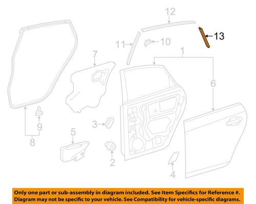 small resolution of details about toyota oem 10 15 prius rear door stripe left 7598947020