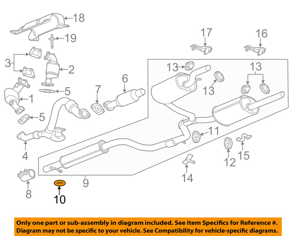 hight resolution of gm oem exhaust system hanger 10056770 ebay 1997 saturn sl series exhaust diagram category exhaust diagram
