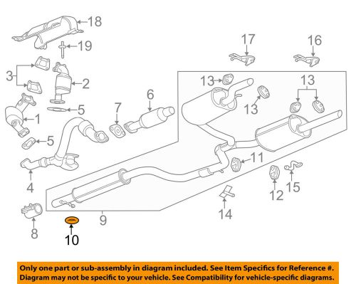small resolution of gm oem exhaust system hanger 10056770 ebay 1997 saturn sl series exhaust diagram category exhaust diagram