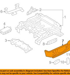 details about lincoln ford oem 10 12 mkz seat track valance right ah6z5462186ab [ 1000 x 798 Pixel ]