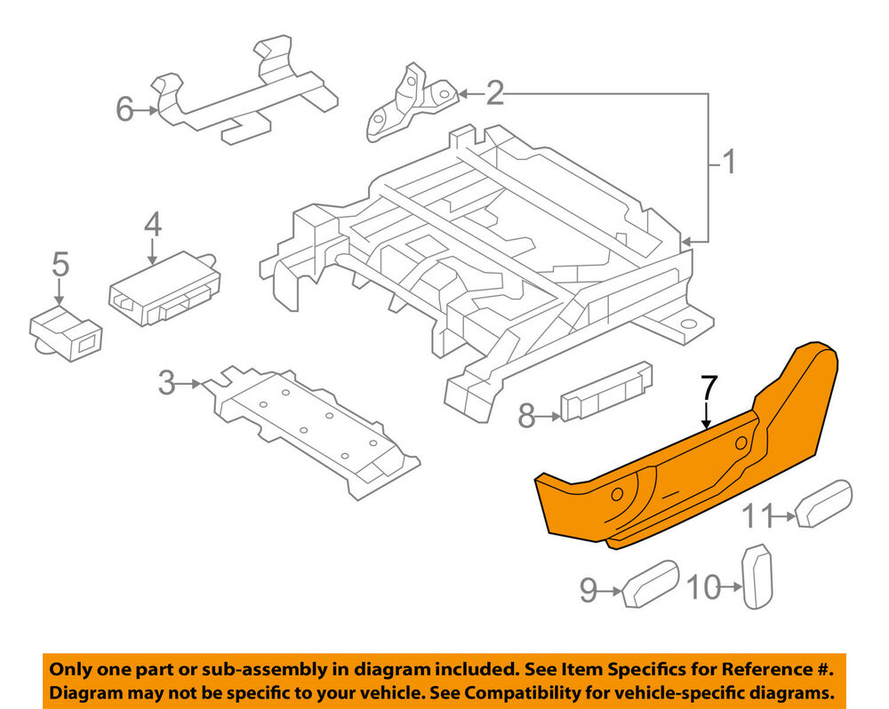 hight resolution of details about lincoln ford oem 10 12 mkz seat track valance right ah6z5462186ab