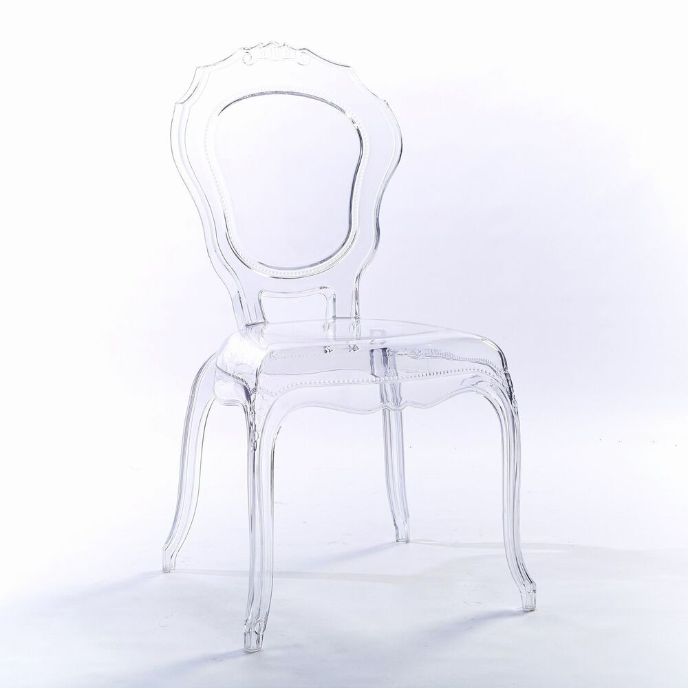 Clear Vanity Chair Niches V2 Ghost Clear Transparent Vanity Dressing Dining Chairs Acrylic Style Ebay