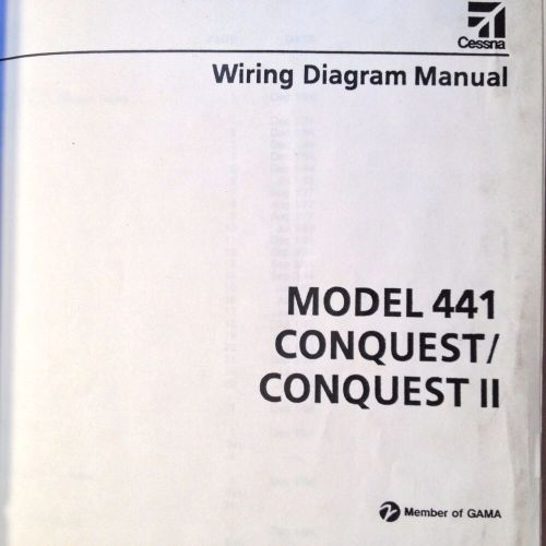 small resolution of cessna conquest and conquest ii model 441 wiring diagram manual ebay