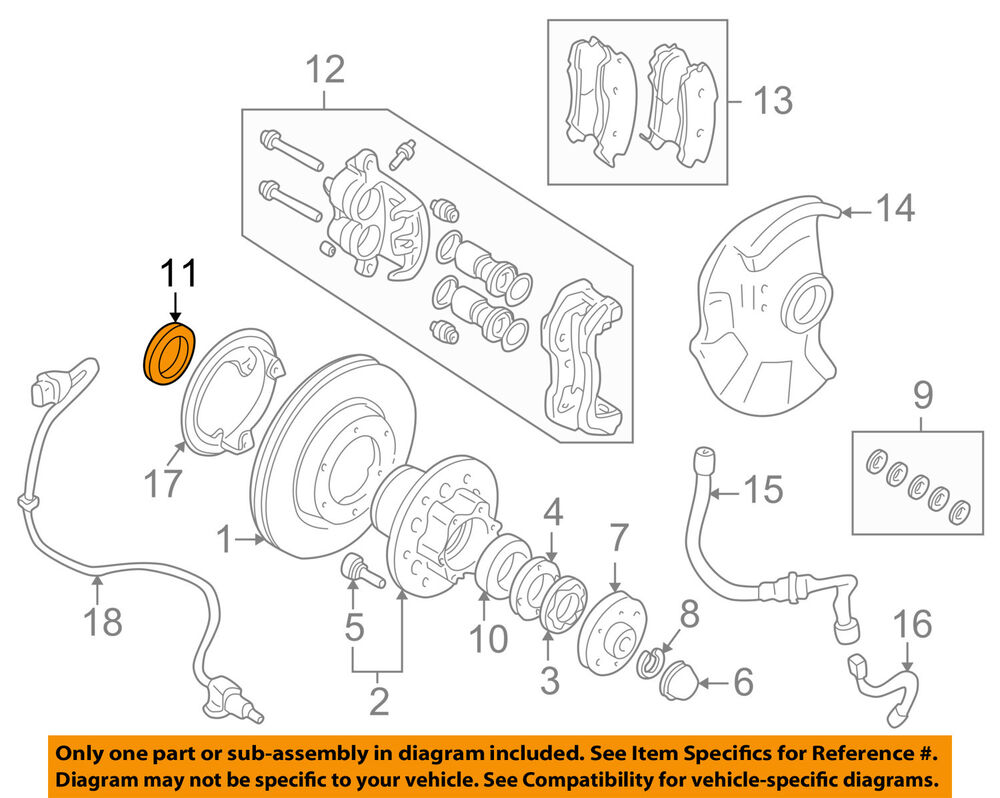 medium resolution of details about mitsubishi oem 97 04 montero sport front hub seals mb526395
