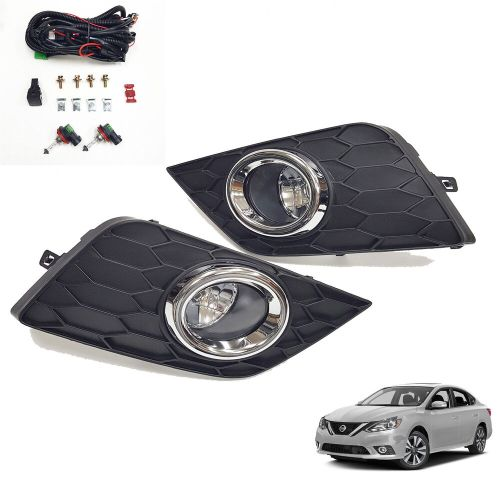 small resolution of details about for 2016 2018 nissan sentra s sv sl clear fog lights w bezel wiring switch bulbs