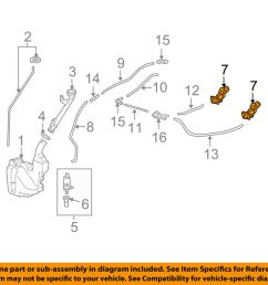details about acura honda oem 09 14 tl windshield wiper washer nozzle spray jet 76810tk4a11 [ 1000 x 798 Pixel ]