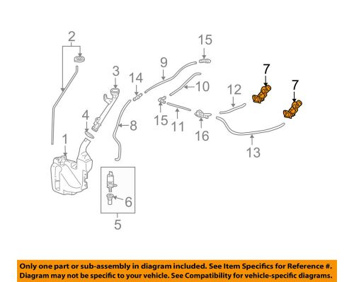 small resolution of details about acura honda oem 09 14 tl windshield wiper washer nozzle spray jet 76810tk4a11