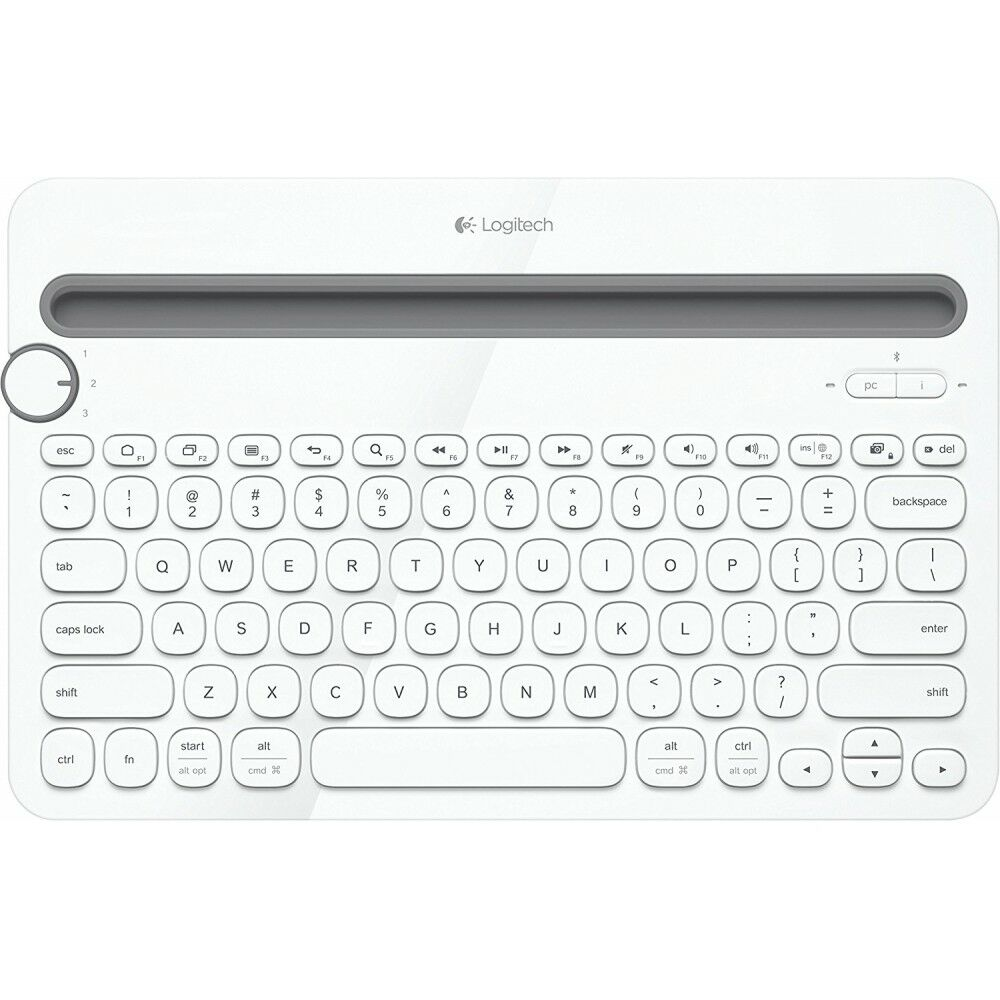 Logitech K480 Bluetooth Multi-Device Keyboard Weiss