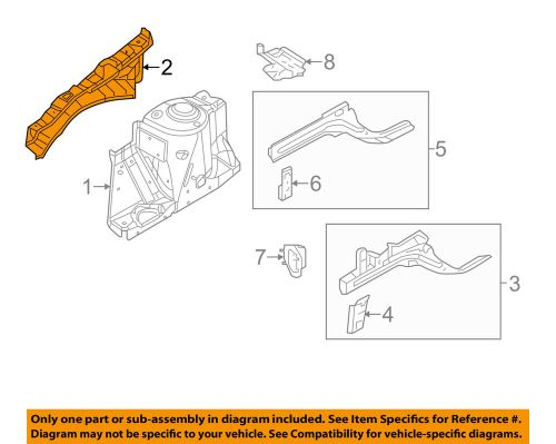 small resolution of details about nissan oem 12 16 versa fender upper rail apron panel cover left f41019kfma