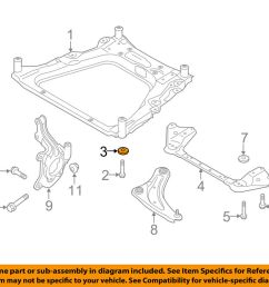 details about nissan oem 11 18 rogue front suspension engine cradle stopper 543424ba0a [ 1000 x 798 Pixel ]