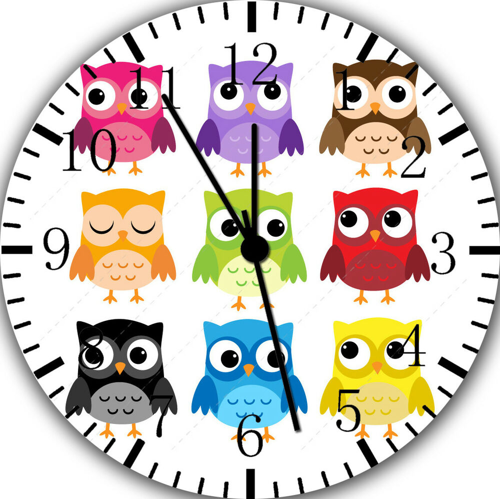 Cute Owl Decor Cute Owl Frameless Borderless Wall Clock Nice For Gifts Or Decor E297 734106029657 Ebay