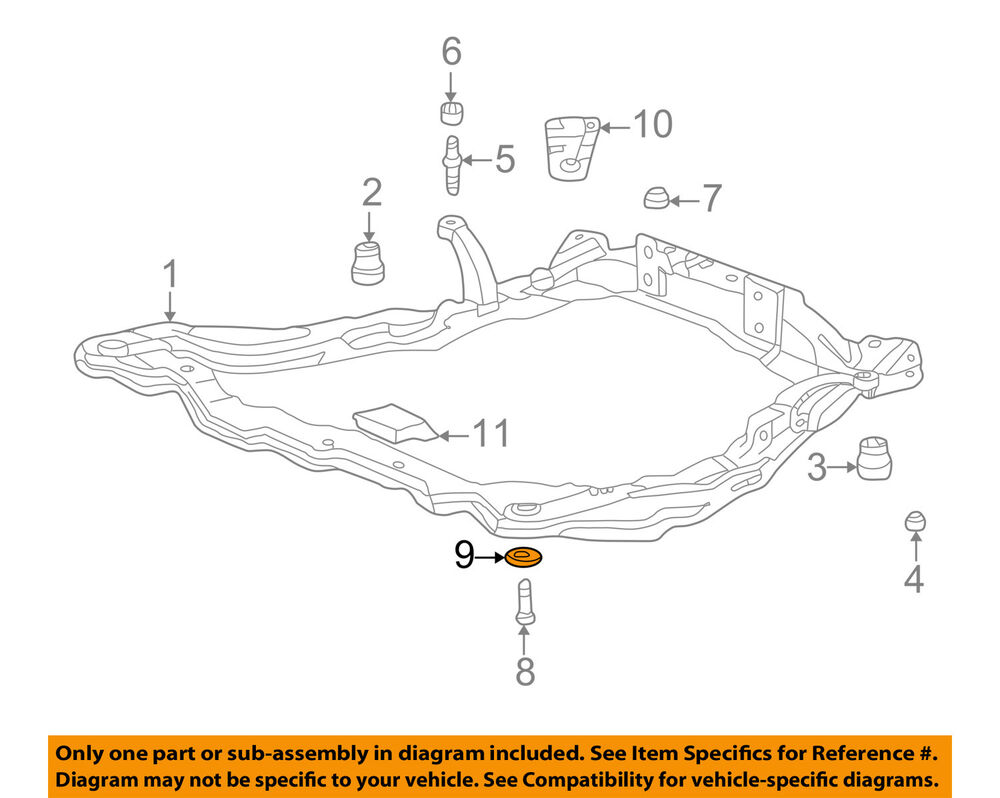 hight resolution of details about hyundai oem 89 05 sonata front suspension engine cradle plate left 624903f010