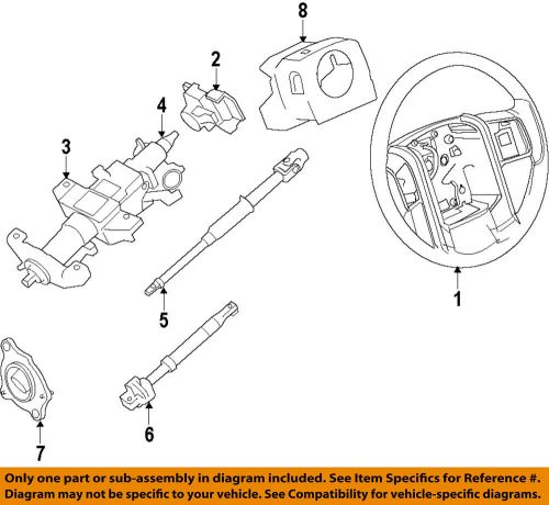 small resolution of ford oem 11 14 f 150 steering column shroud bl3z3530bd ebay 1985 ford f 150 steering column diagram ford f 150 steering column diagram