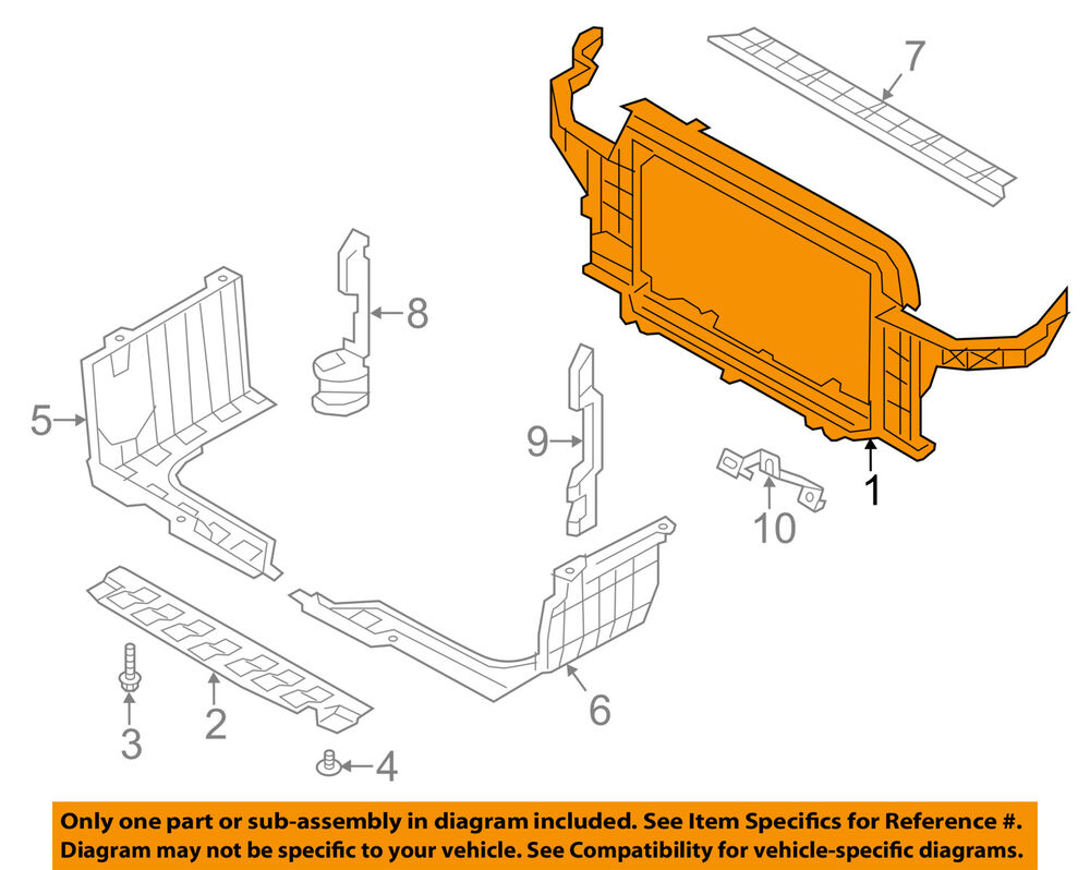 hight resolution of details about hyundai oem 12 13 veloster radiator core support bracket panel 641012v010