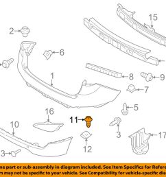 details about hyundai oem 10 18 tucson rear bumper lower cover screw 1244105167b [ 1000 x 798 Pixel ]