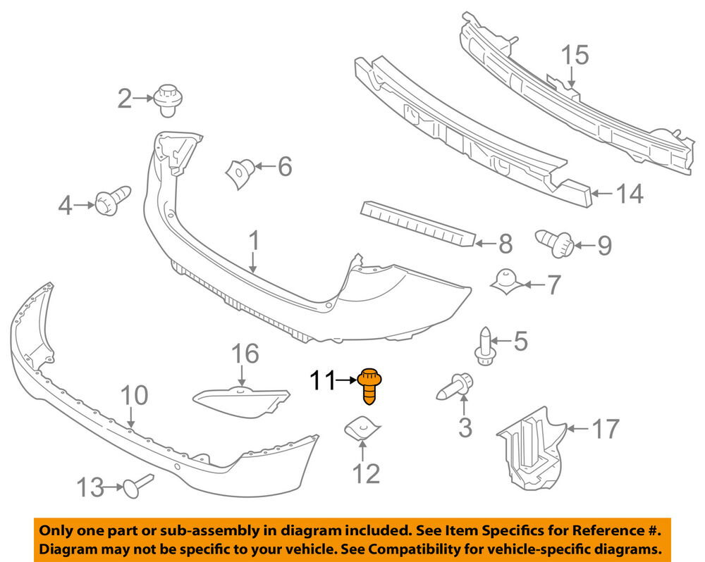 hight resolution of details about hyundai oem 10 18 tucson rear bumper lower cover screw 1244105167b