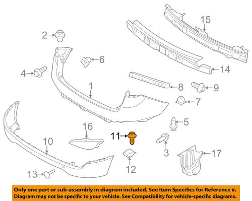 small resolution of details about hyundai oem 10 18 tucson rear bumper lower cover screw 1244105167b