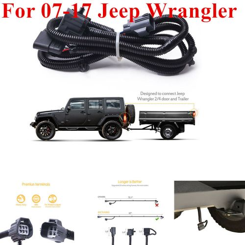 small resolution of details about for 07 17 jeep wrangler jk 2 4 65 trailer hitch wiring harness kit 4 way