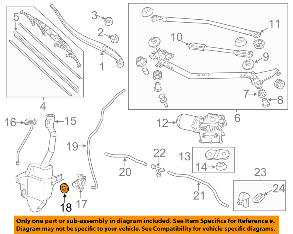 hight resolution of details about honda oem wiper washer windshield washer pump bushing 76842shja01