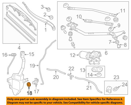 small resolution of details about honda oem wiper washer windshield washer pump bushing 76842shja01