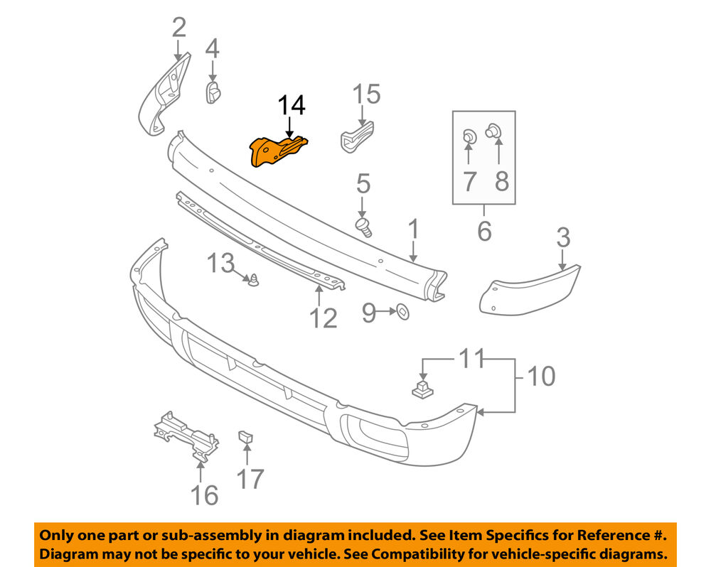 hight resolution of details about nissan oem 96 99 pathfinder front bumper stay support bracket left 622110w001