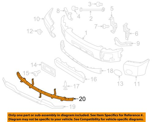 small resolution of details about nissan oem 05 15 titan front bumper retainer bracket 62290zh00a