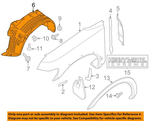 small resolution of details about nissan oem 04 07 titan front fender liner splash shield right 638307s200